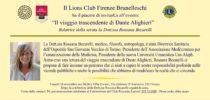 """18 Novembre 2019. ROSSANA BECARELLI """"Il viaggio trascendente di Dante Alighieri: risonanza contemporanea"""""""